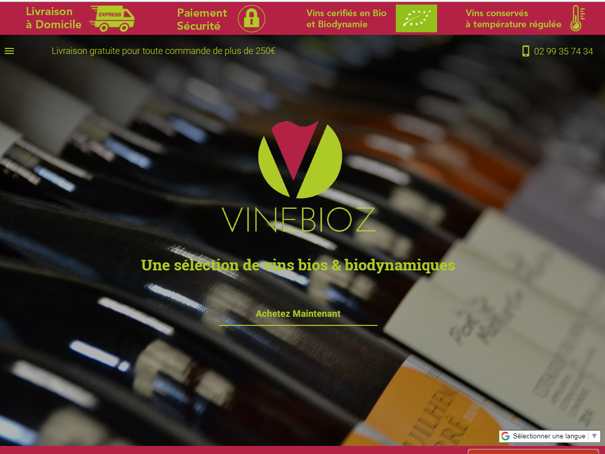 Vinebioz - e-Boutique